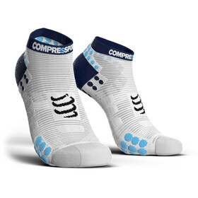 Compressport Pro Racing V3.0 Run Low juoksusukat , sininen/valkoinen